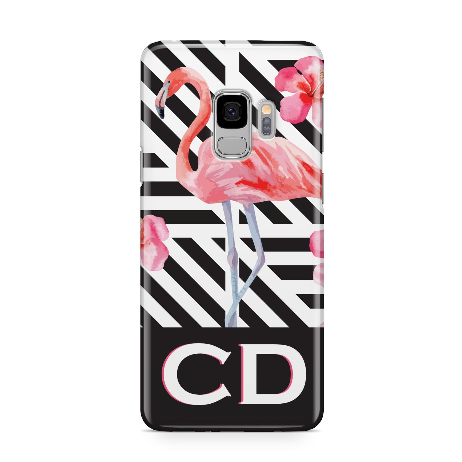 Flamingo Black Geometric Samsung Galaxy S9 Case