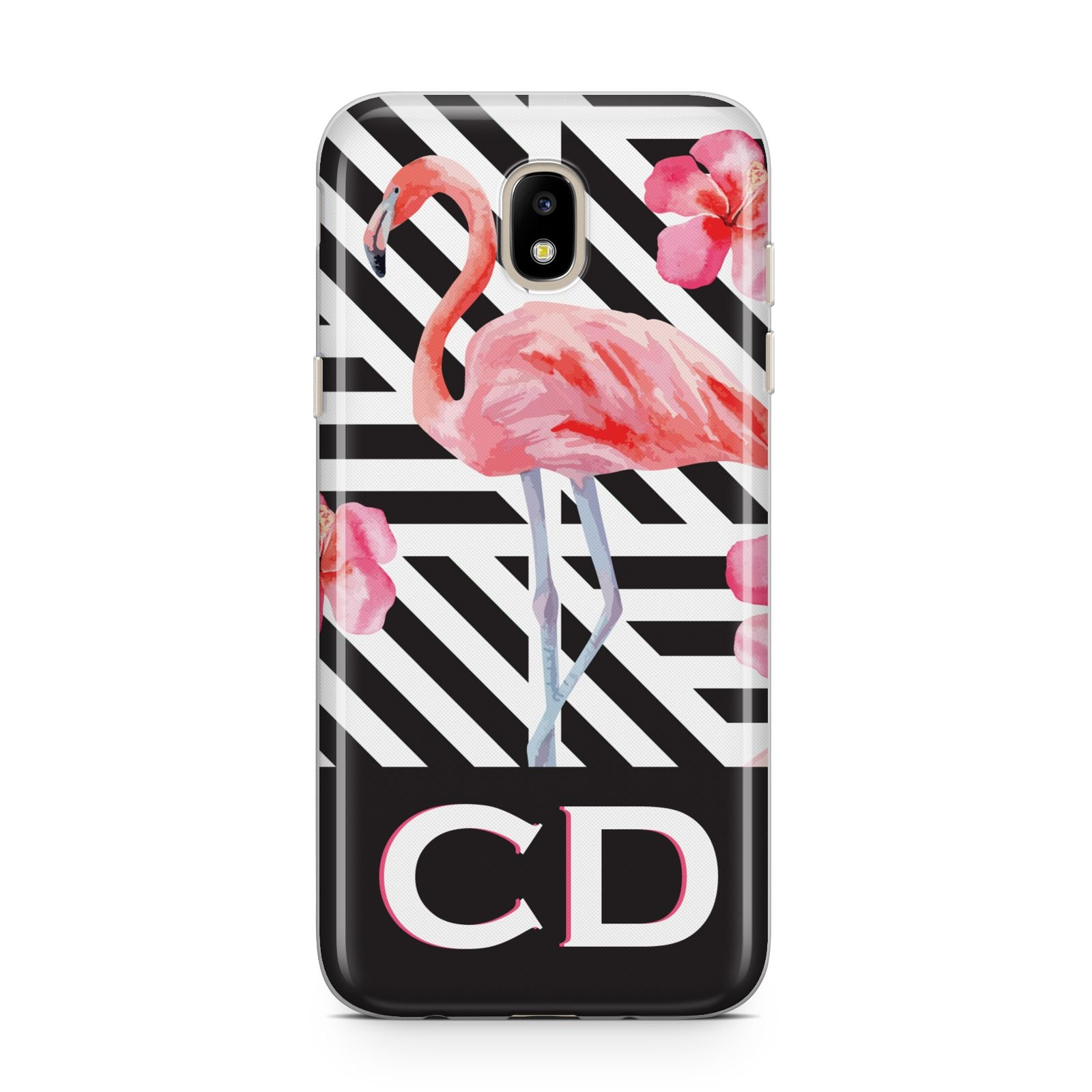 Flamingo Black Geometric Samsung J5 2017 Case