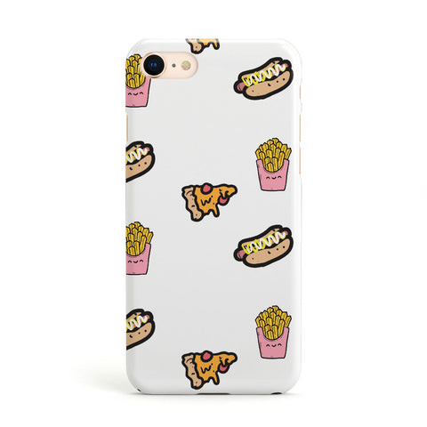 Fries Pizza & Hot Dog Apple iPhone Case