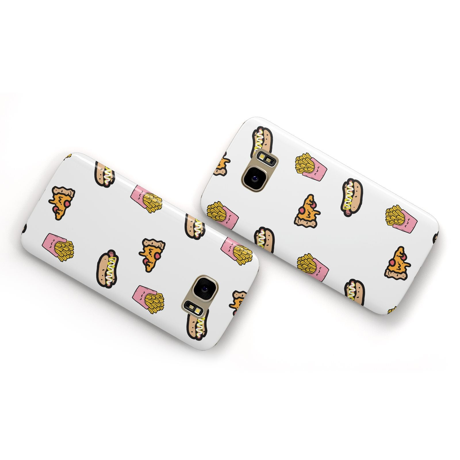 Fries Pizza Hot Dog Samsung Galaxy Case Flat Overview