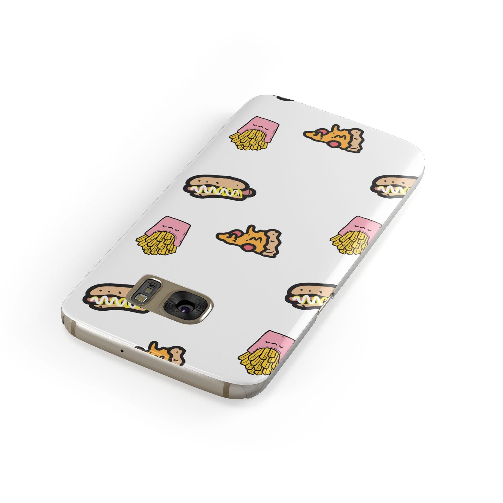 Fries Pizza Hot Dog Samsung Galaxy Case Front Close Up