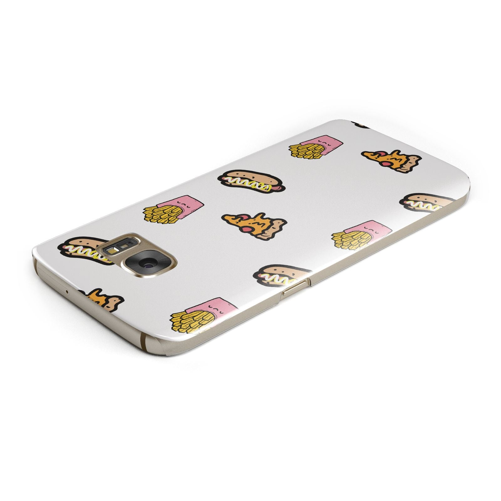 Fries Pizza Hot Dog Samsung Galaxy Case Top Cutout