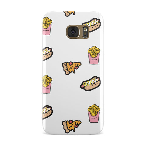 Fries Pizza & Hot Dog Samsung Galaxy Case