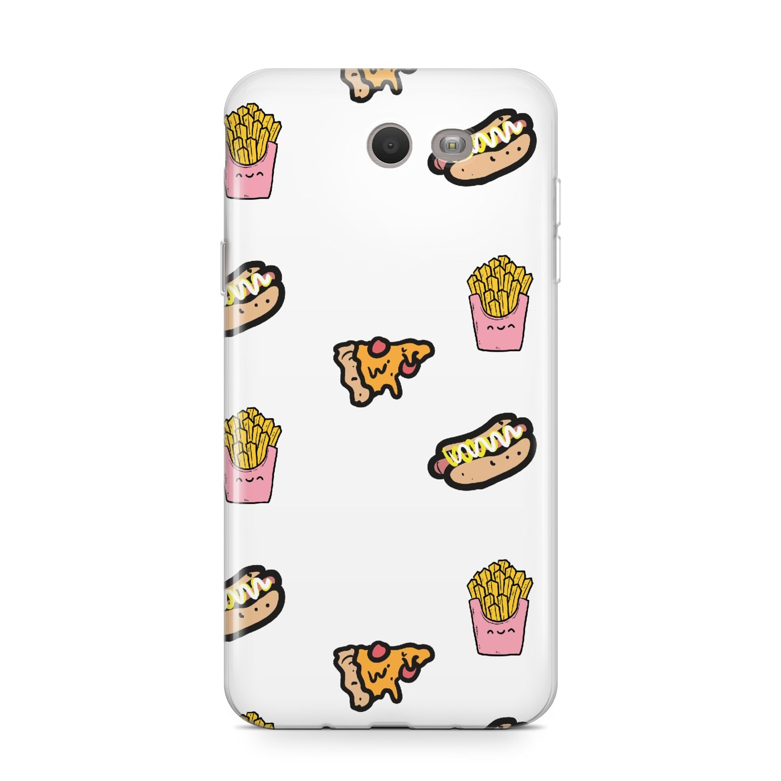 Fries Pizza Hot Dog Samsung Galaxy J7 2017 Case