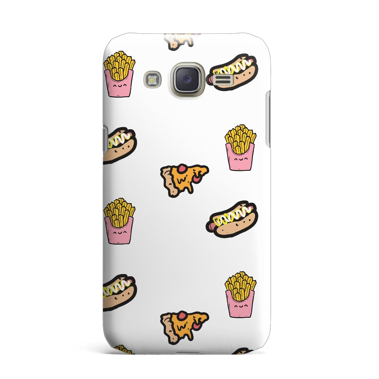 Fries Pizza Hot Dog Samsung Galaxy J7 Case