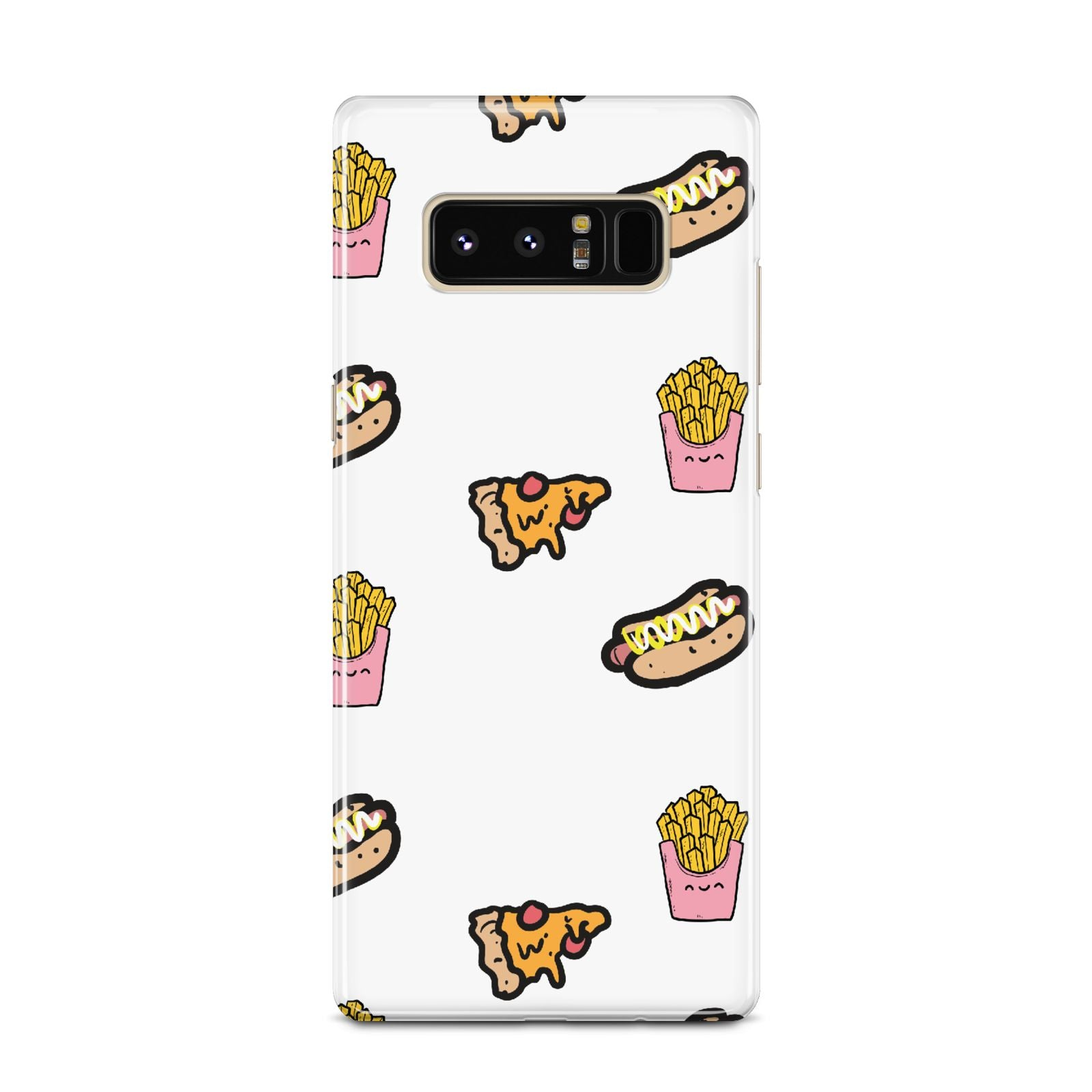 Fries Pizza Hot Dog Samsung Galaxy Note 8 Case