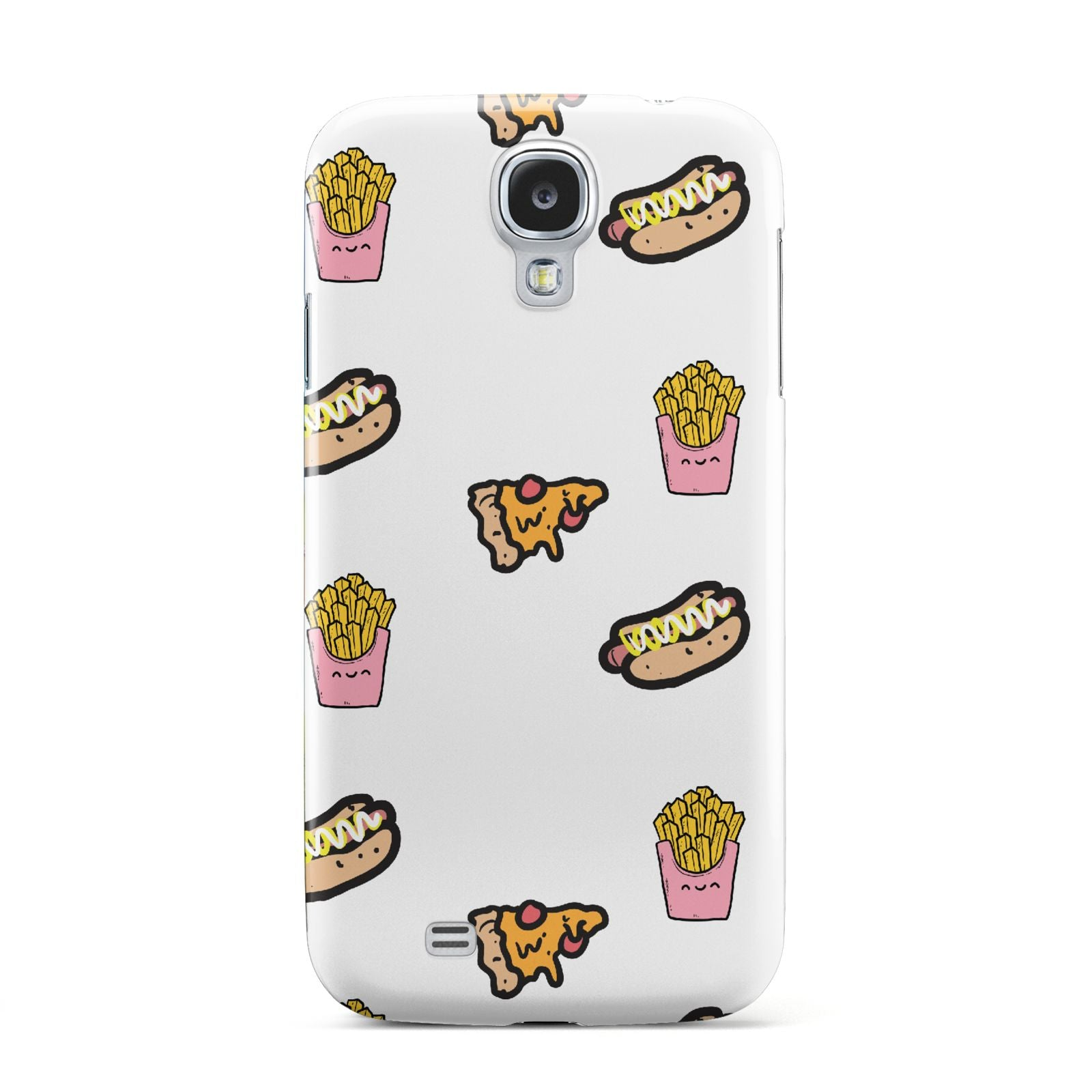 Fries Pizza Hot Dog Samsung Galaxy S4 Case