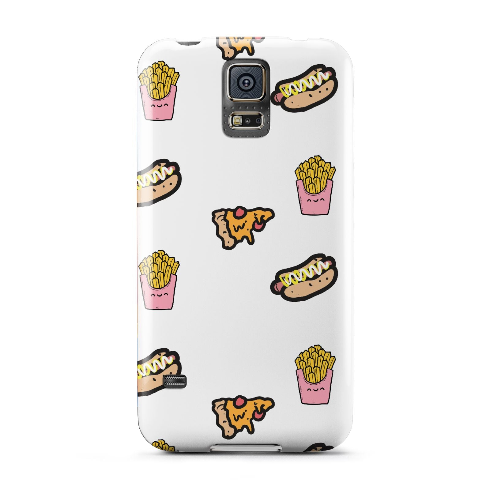 Fries Pizza Hot Dog Samsung Galaxy S5 Case