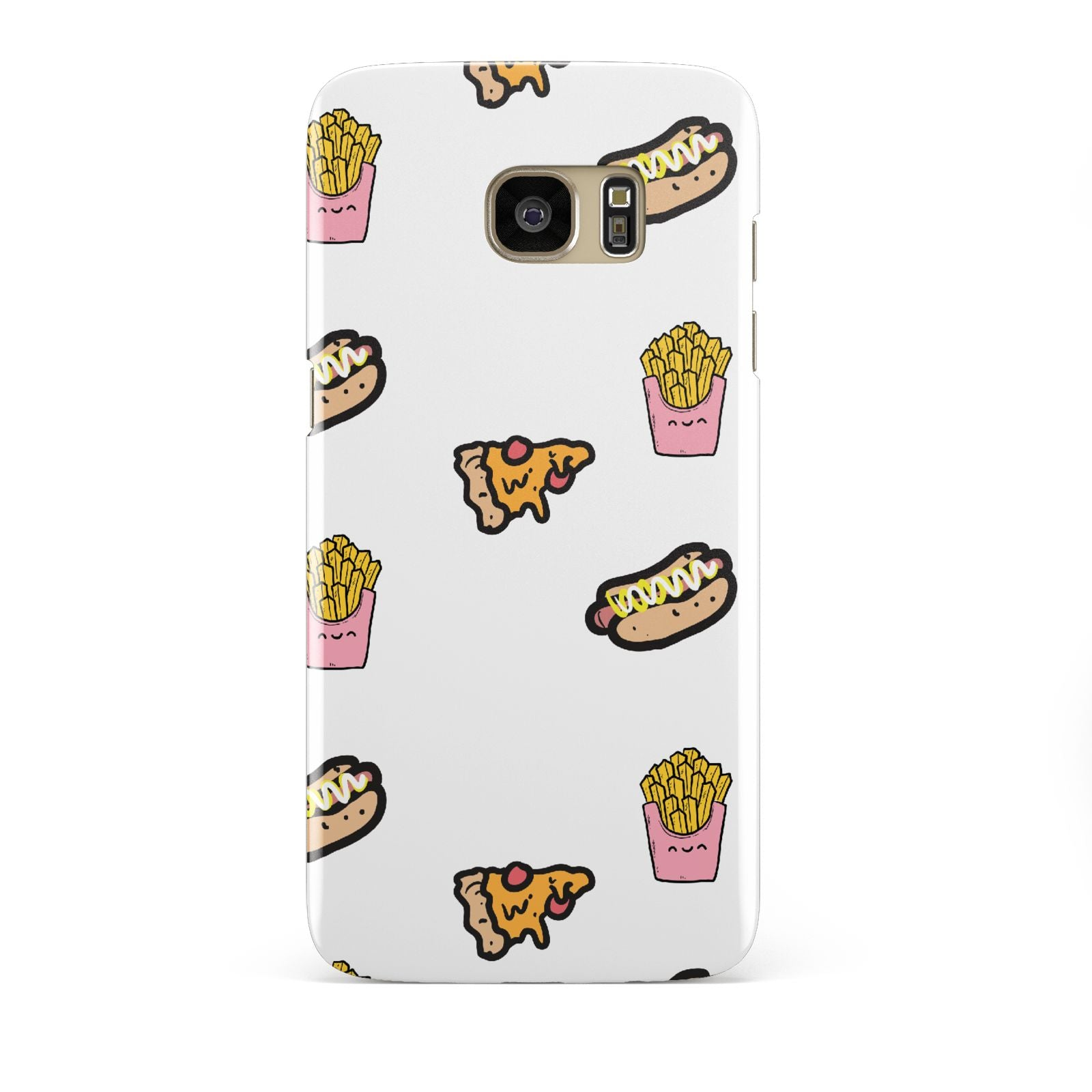 Fries Pizza Hot Dog Samsung Galaxy S7 Edge Case