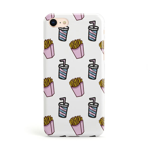 Fries & Shake Fast Food Apple iPhone Case