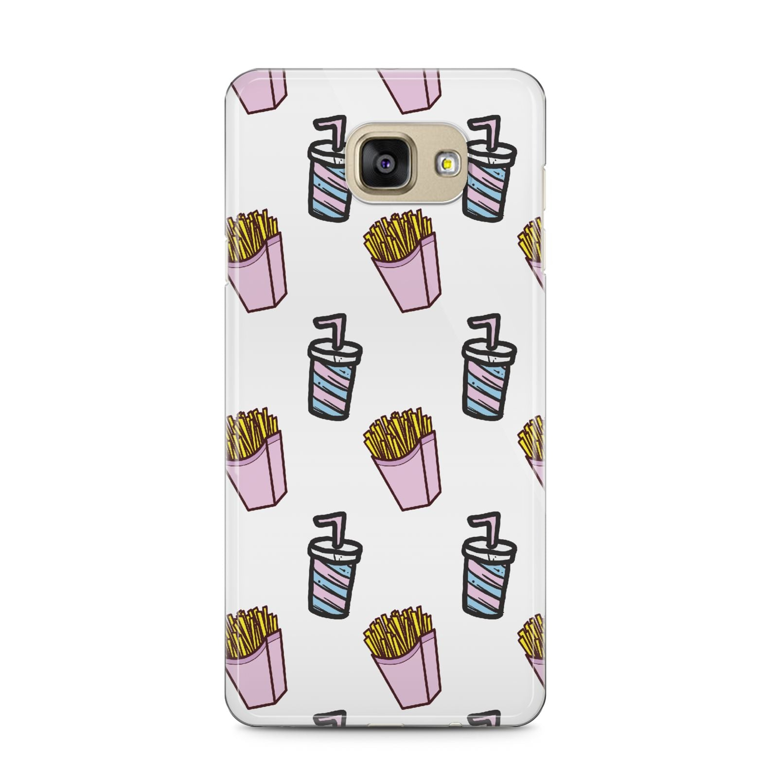 Fries Shake Fast Food Samsung Galaxy A5 2016 Case on gold phone