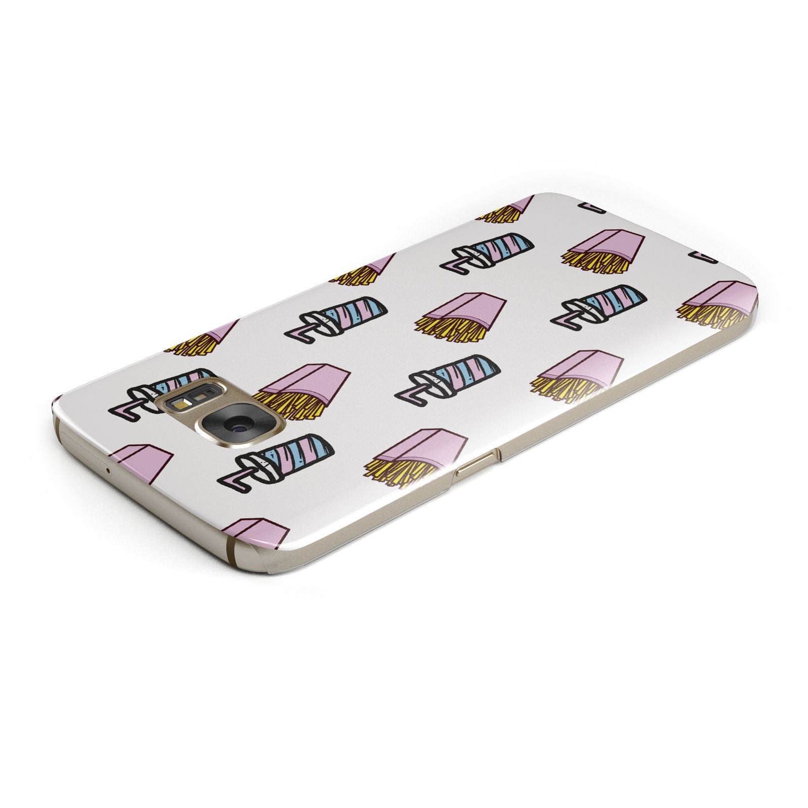 Fries Shake Fast Food Samsung Galaxy Case Top Cutout