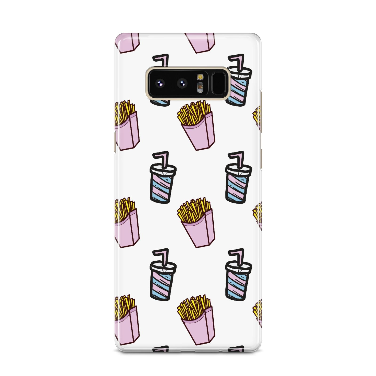 Fries Shake Fast Food Samsung Galaxy Note 8 Case