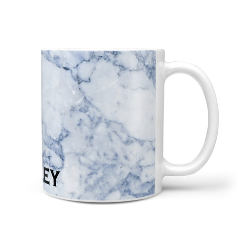 Full Name Grey Marble Mug