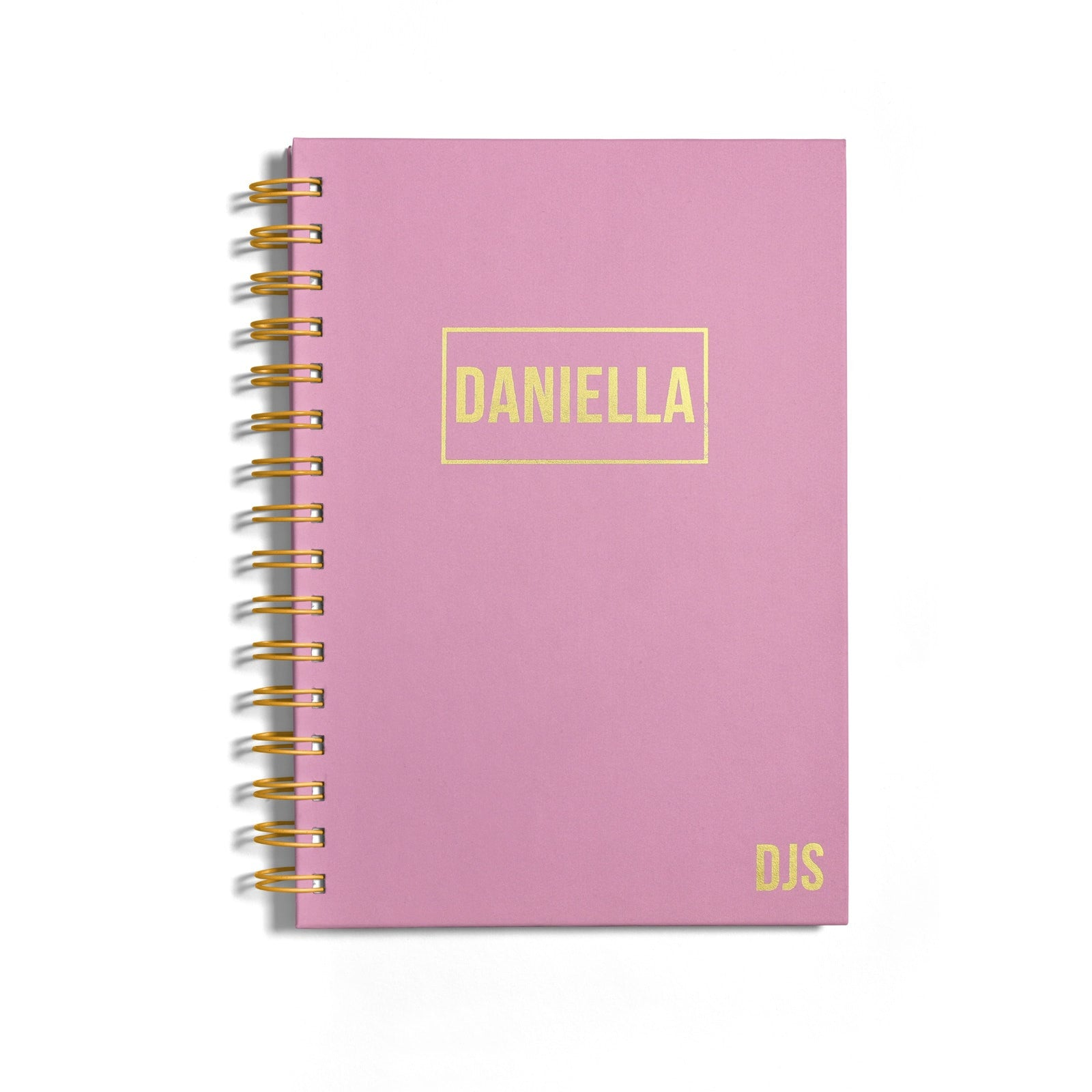 Personalised Gold Foil Notebook with Name & Initials
