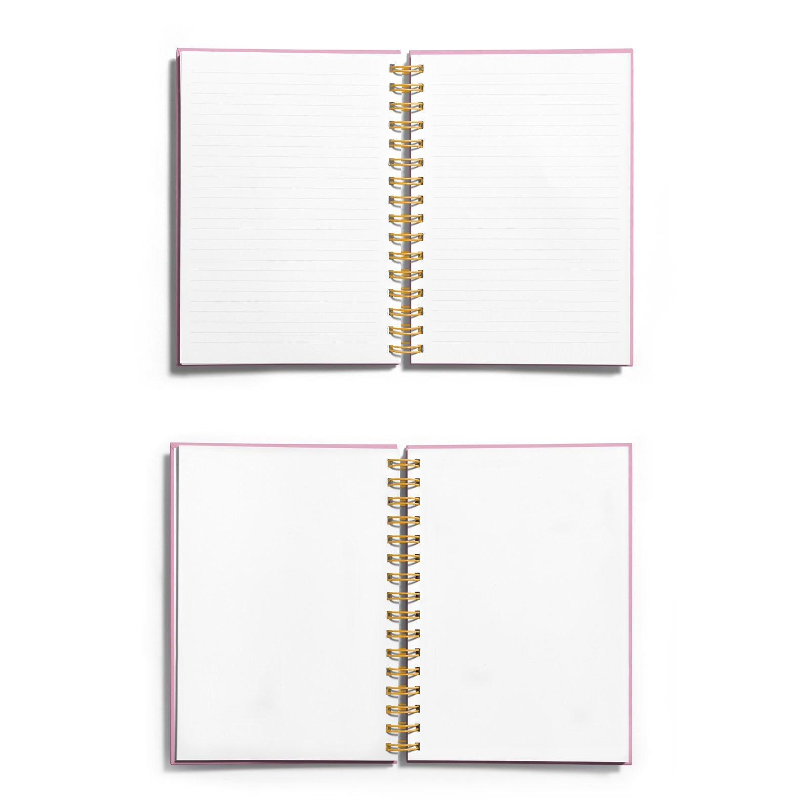 Personalised Gold Foil Notebook with Name & Initials Choice of Paper