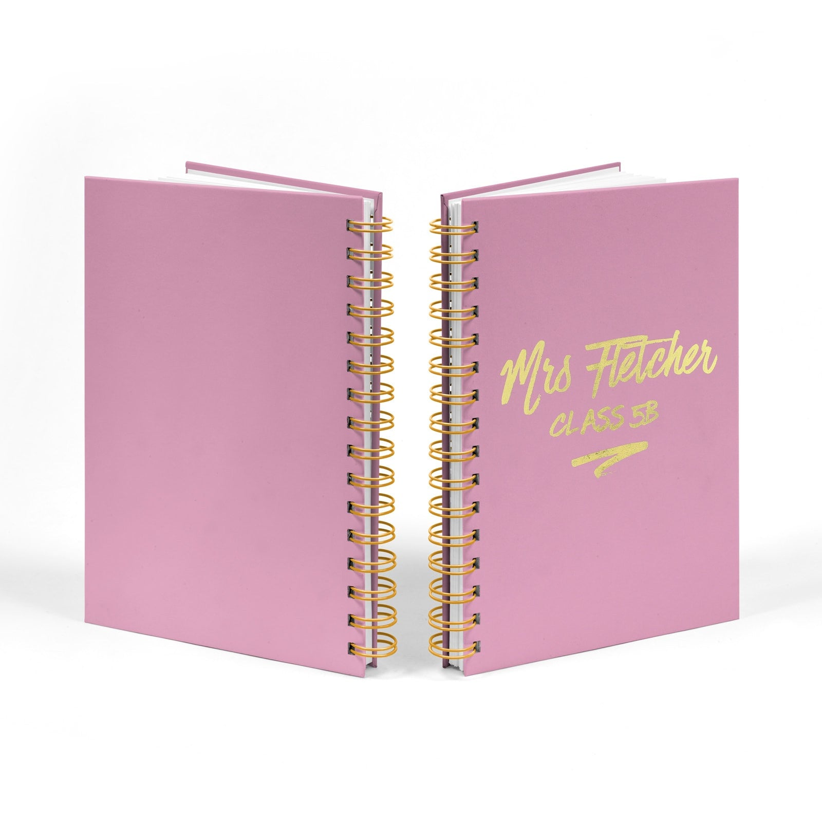 Personalised Gold Foil Teachers Notebook Front & Back