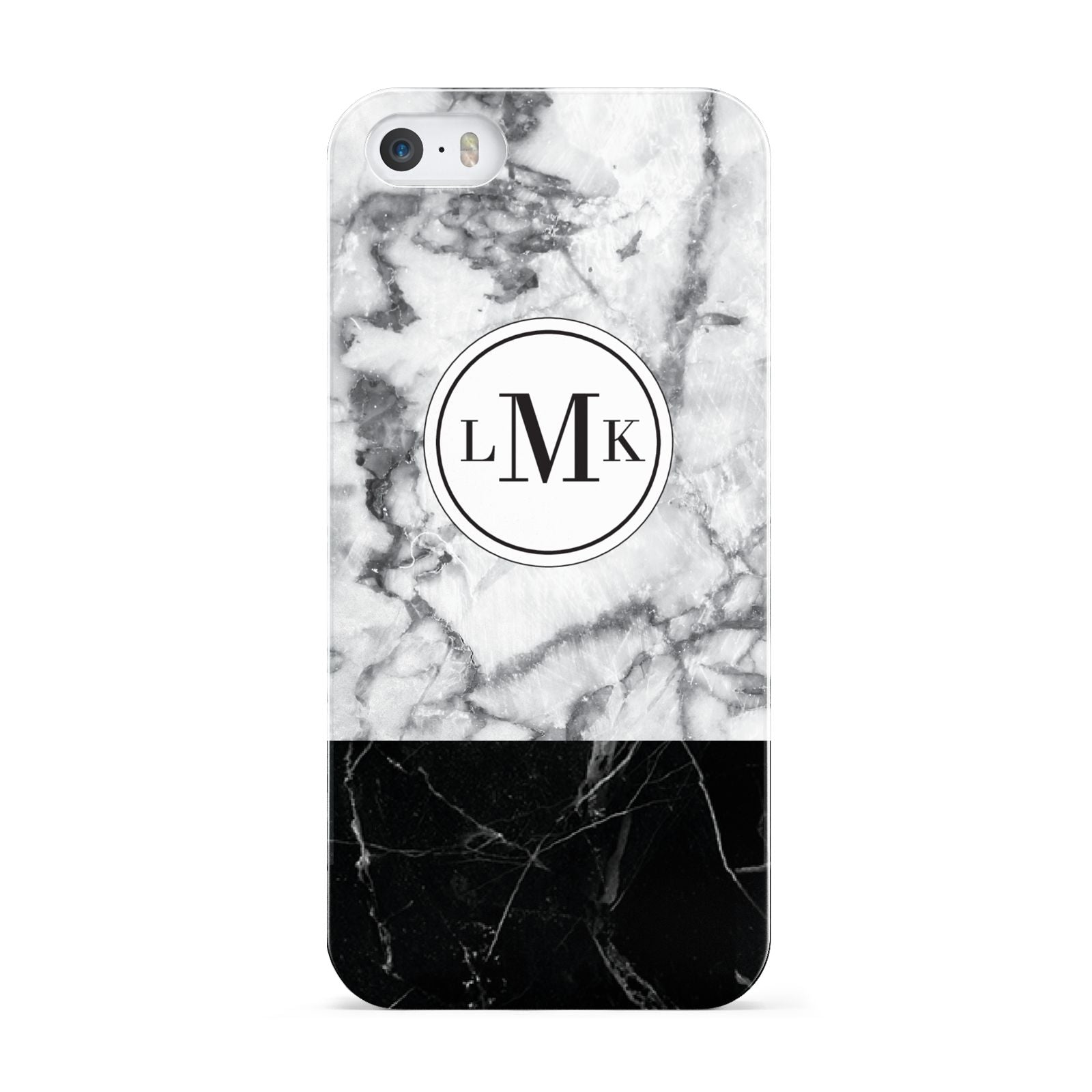 Geometric Marble Initials Personalised Apple iPhone 5 Case