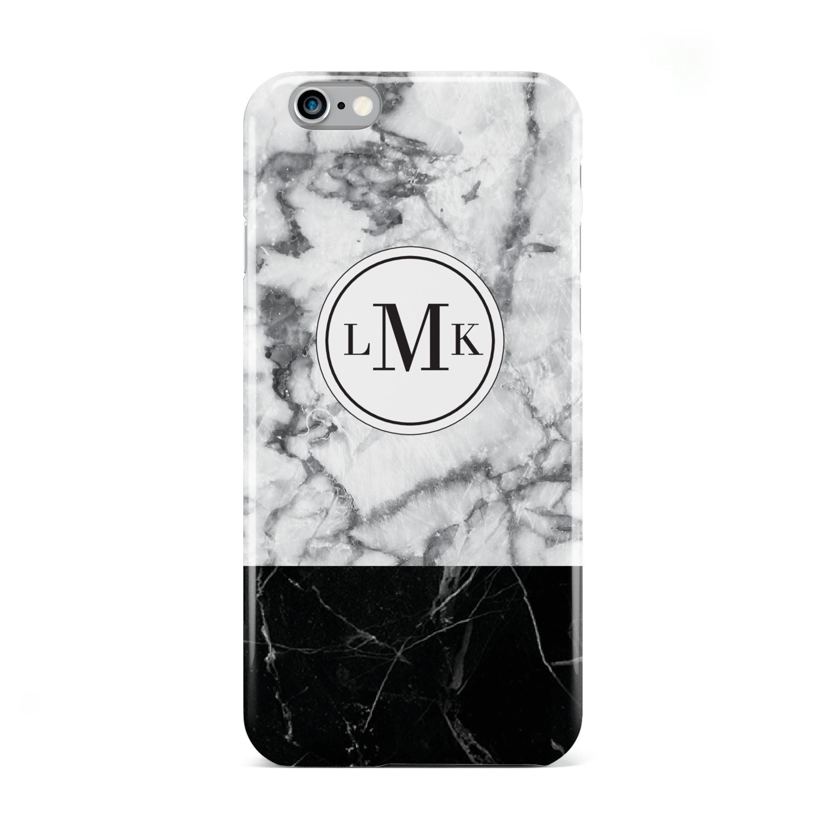 Geometric Marble Initials Personalised Apple iPhone 6 Case