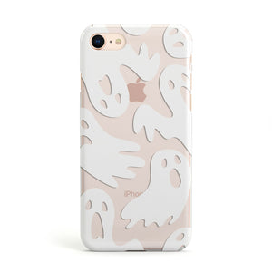 Ghosts with Transparent Background Apple iPhone Case