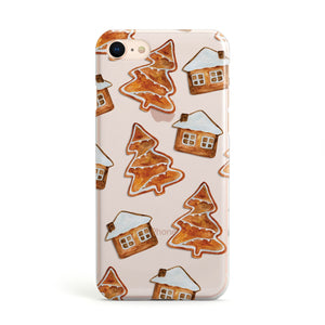 Gingerbread House Tree Apple iPhone Case