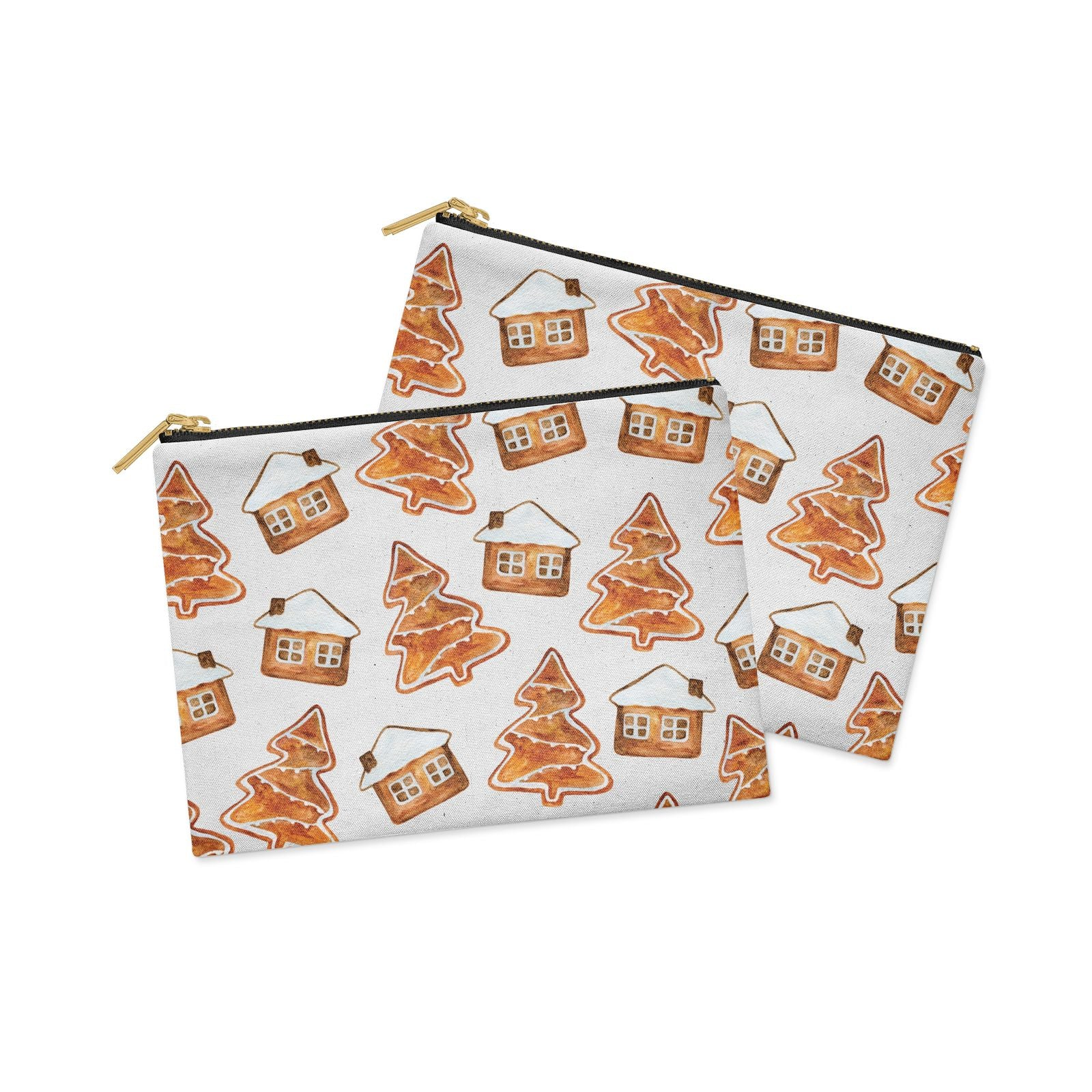 Gingerbread House Tree Clutch Bag Zipper Pouch Alternative View