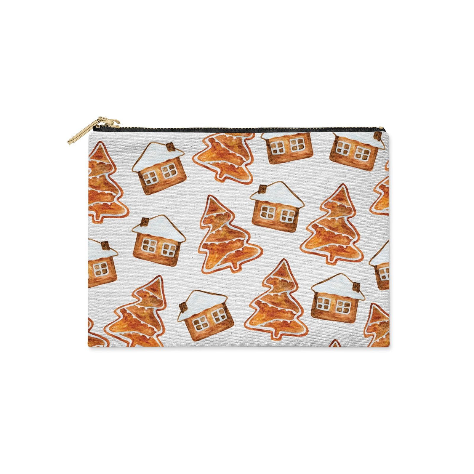 Gingerbread House Tree Clutch Bag Zipper Pouch