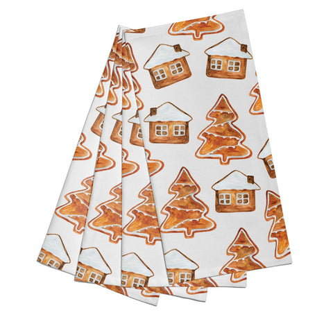 Gingerbread House & Tree Napkins
