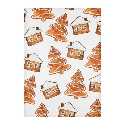 Gingerbread House & Tree Tea Towel