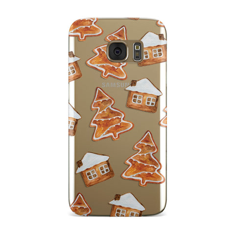 Gingerbread House & Tree Samsung Galaxy Case