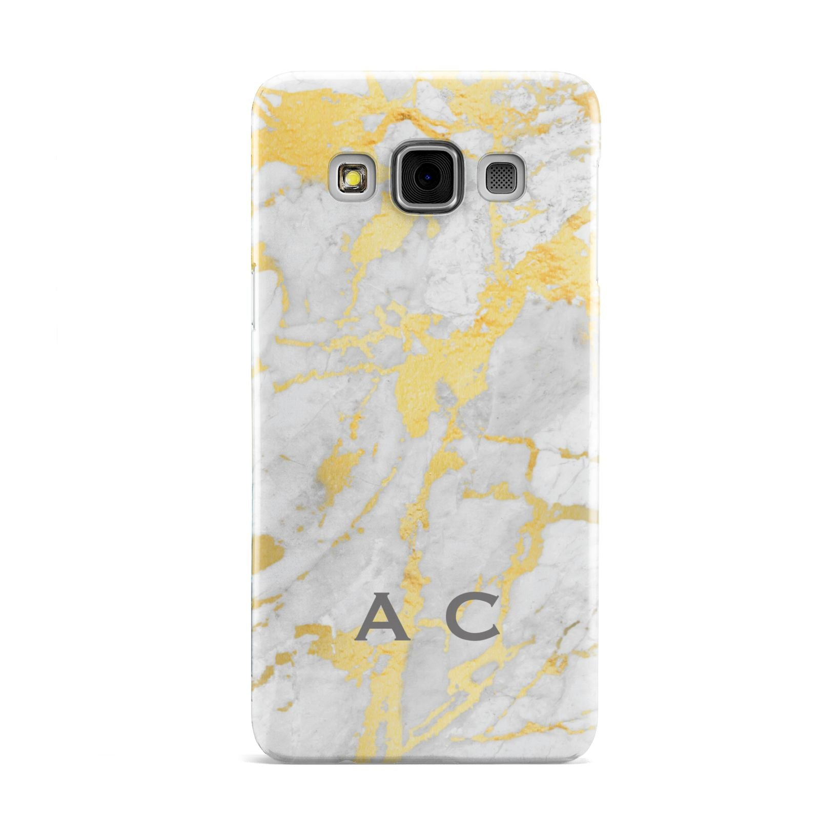 Gold Marble Initials Personalised Samsung Galaxy A3 Case