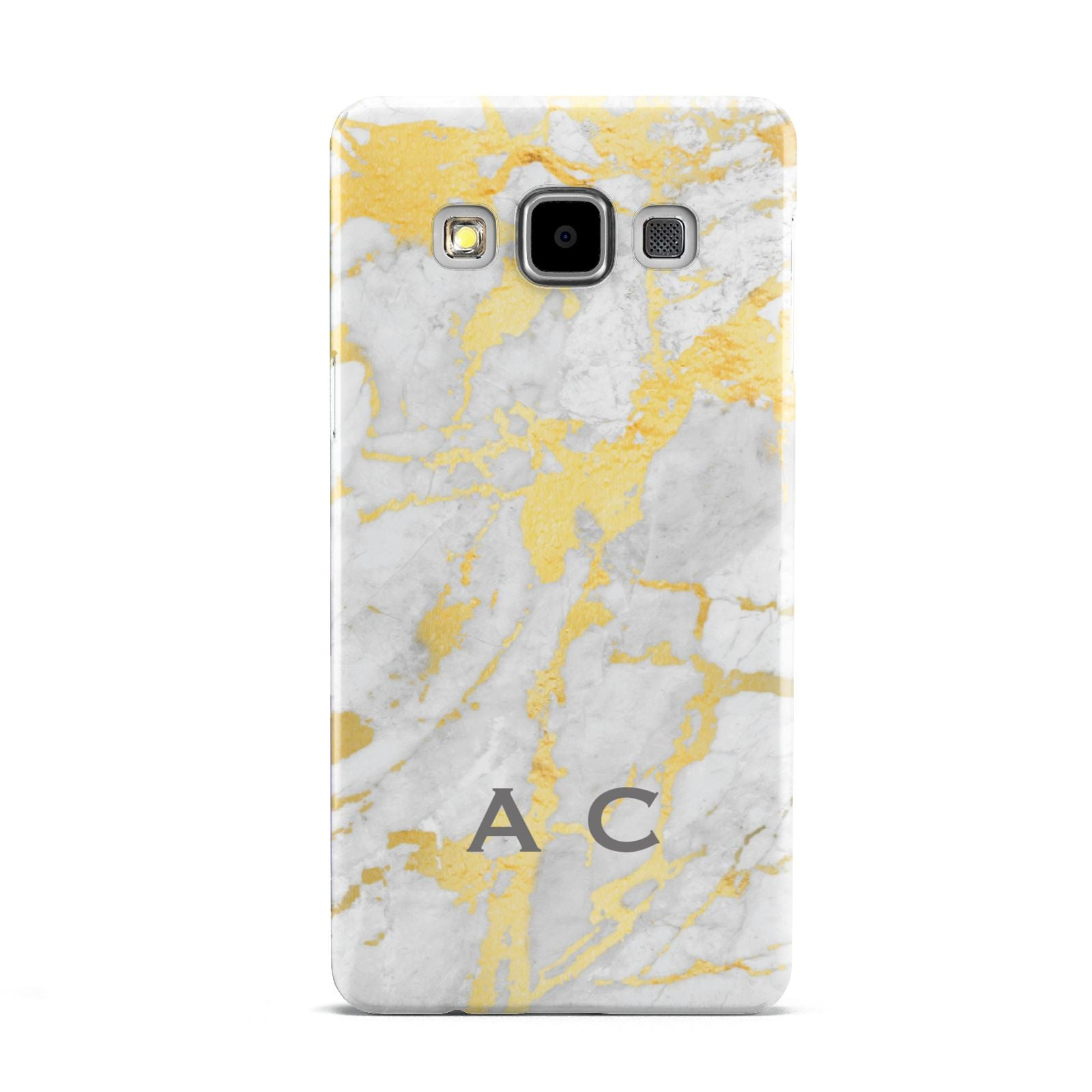 Gold Marble Initials Personalised Samsung Galaxy A5 Case