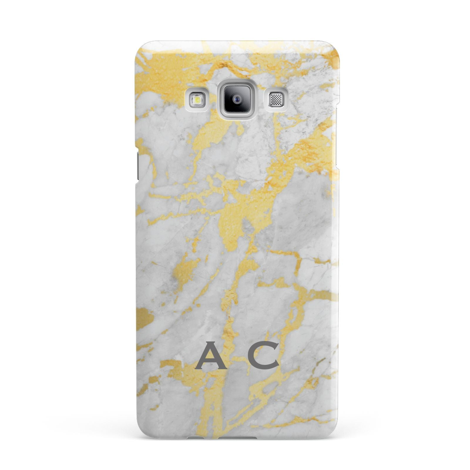 Gold Marble Initials Personalised Samsung Galaxy A7 2015 Case