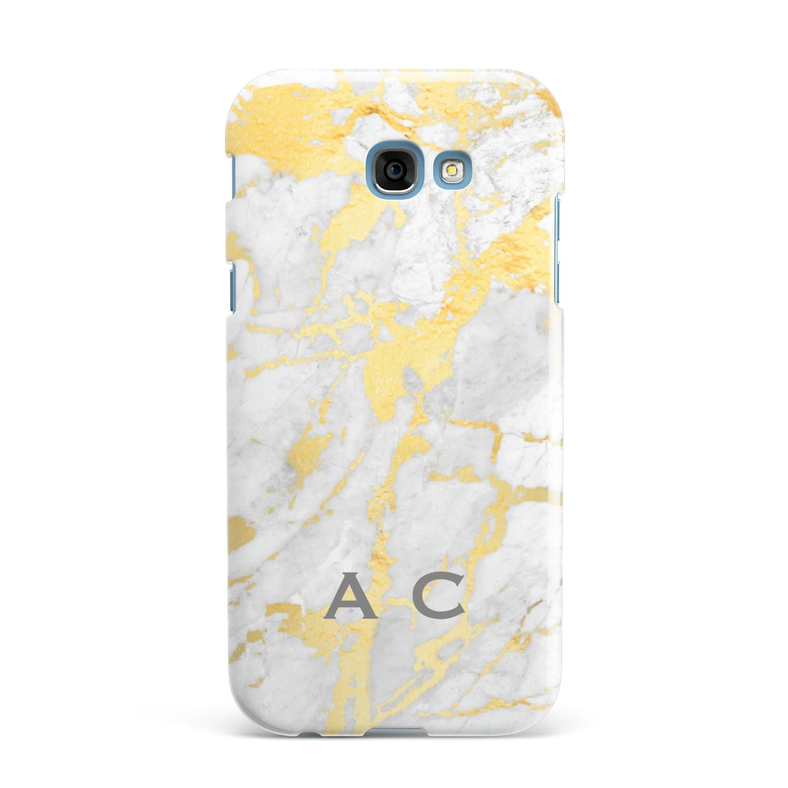 Gold Marble Initials Personalised Samsung Galaxy A7 2017 Case