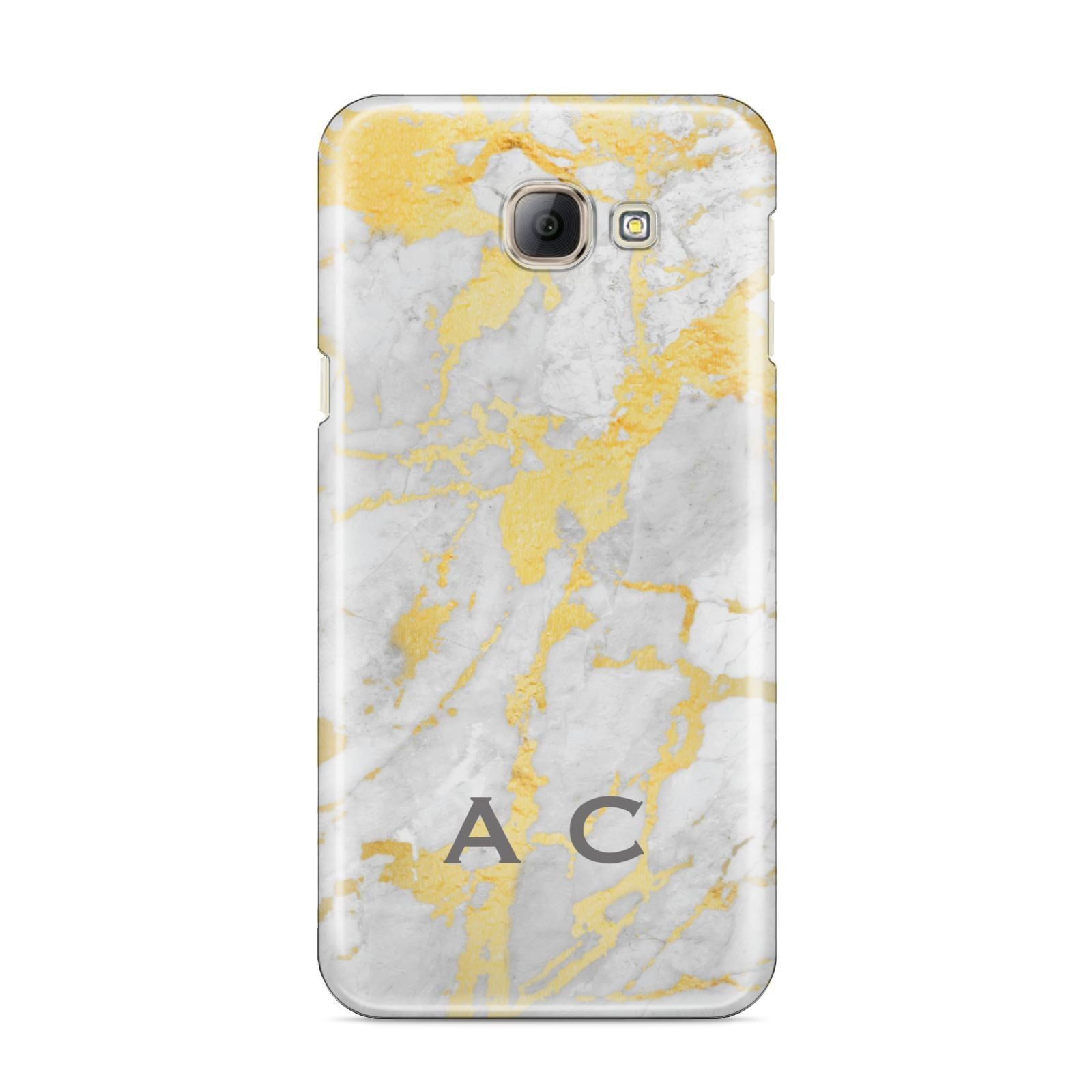 Gold Marble Initials Personalised Samsung Galaxy A8 2016 Case
