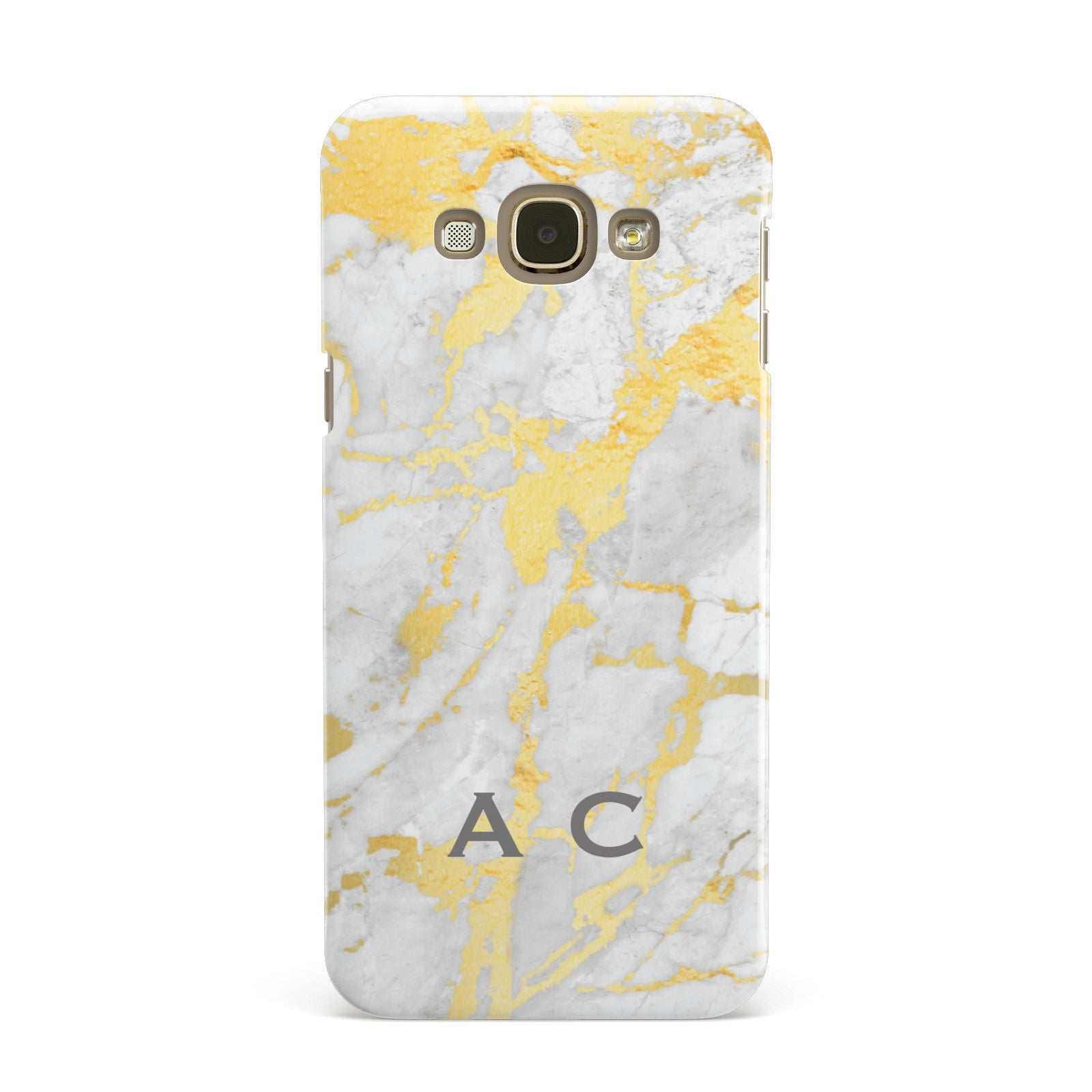 Gold Marble Initials Personalised Samsung Galaxy A8 Case