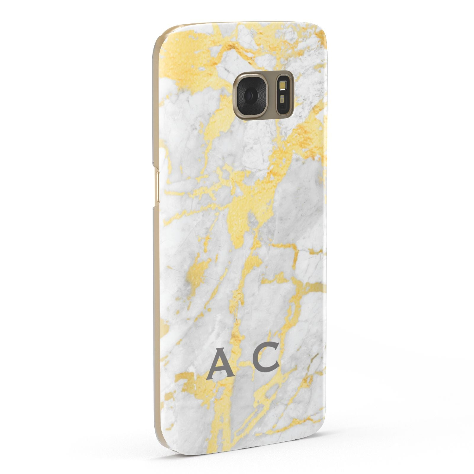 Gold Marble Initials Personalised Samsung Galaxy Case Fourty Five Degrees