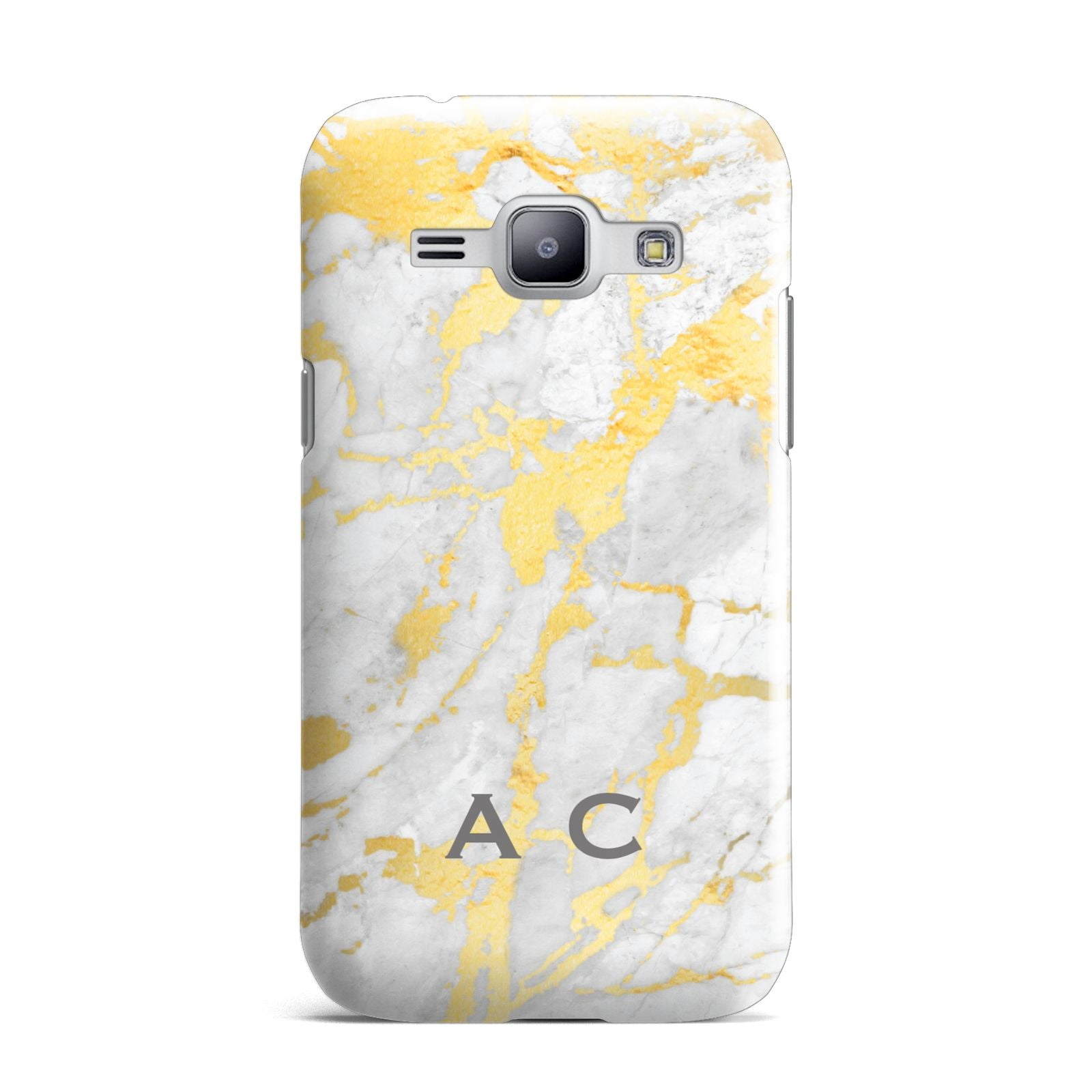 Gold Marble Initials Personalised Samsung Galaxy J1 2015 Case
