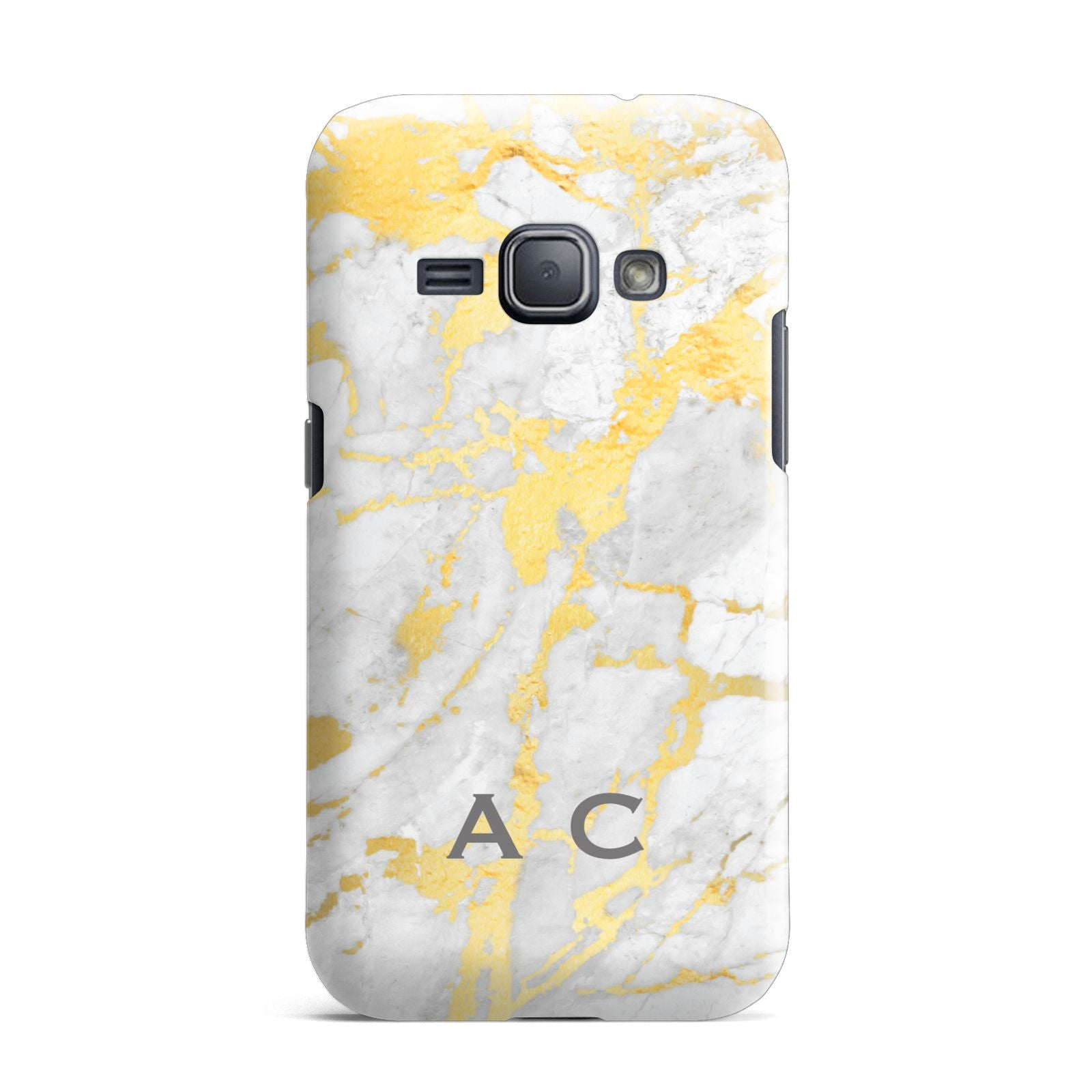 Gold Marble Initials Personalised Samsung Galaxy J1 2016 Case