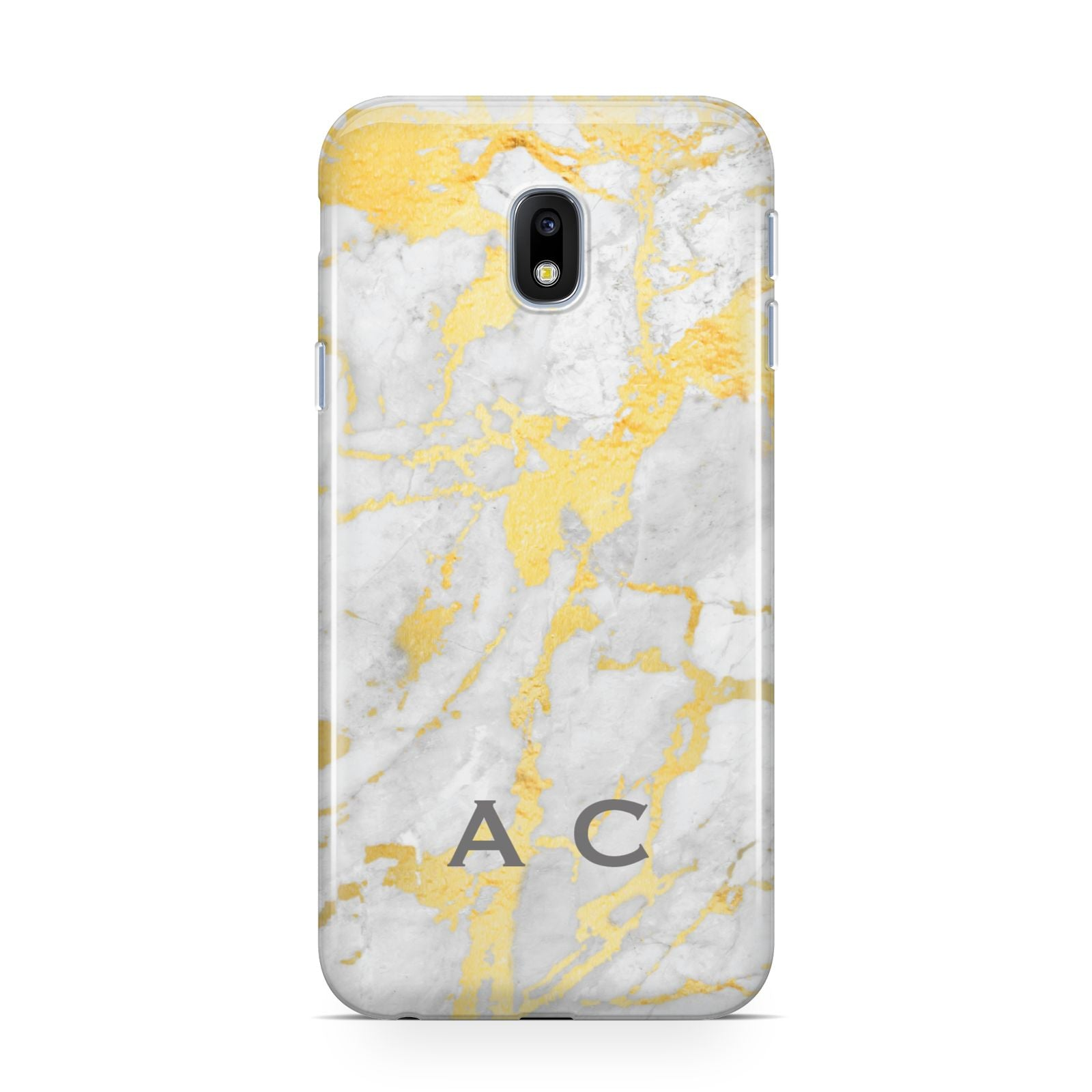 Gold Marble Initials Personalised Samsung Galaxy J3 2017 Case