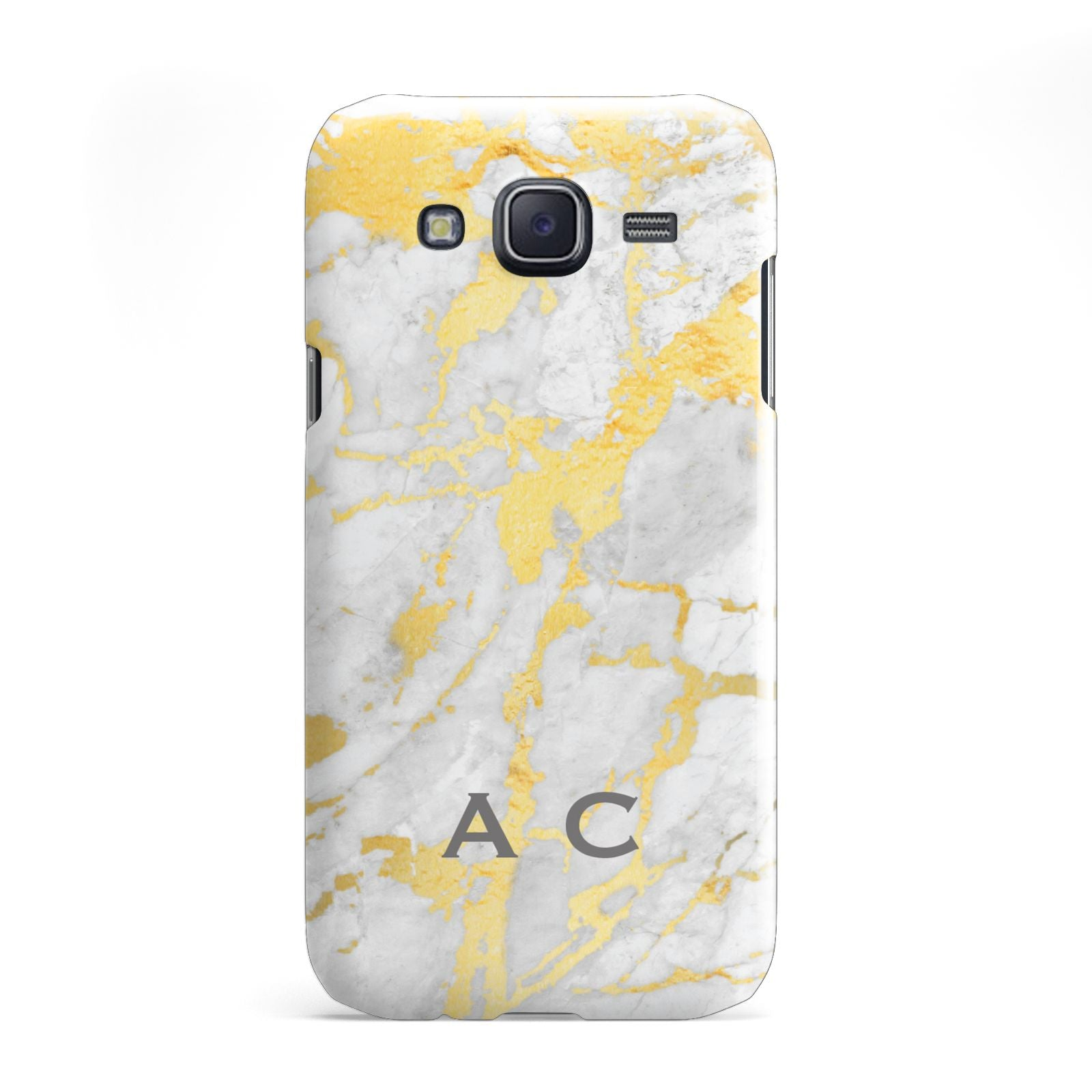 Gold Marble Initials Personalised Samsung Galaxy J5 Case