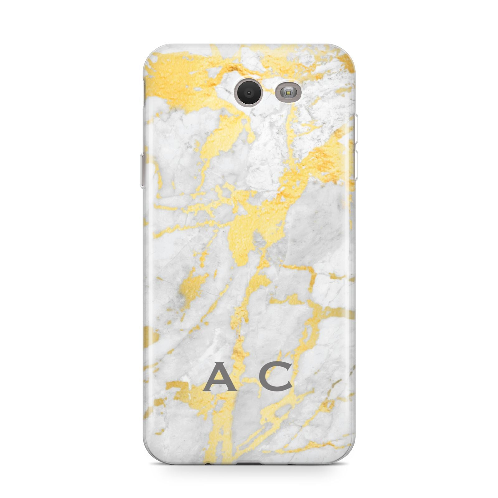 Gold Marble Initials Personalised Samsung Galaxy J7 2017 Case