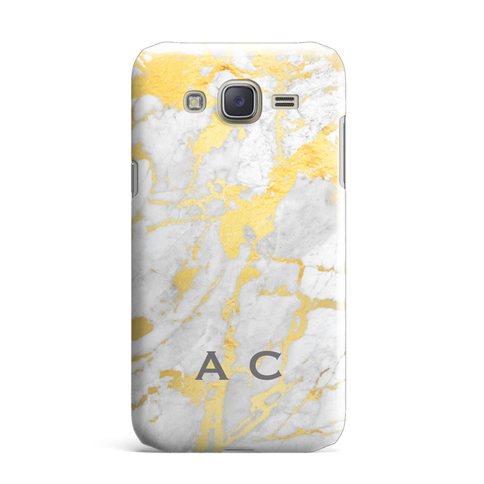 Gold Marble Initials Personalised Samsung Galaxy J7 Case