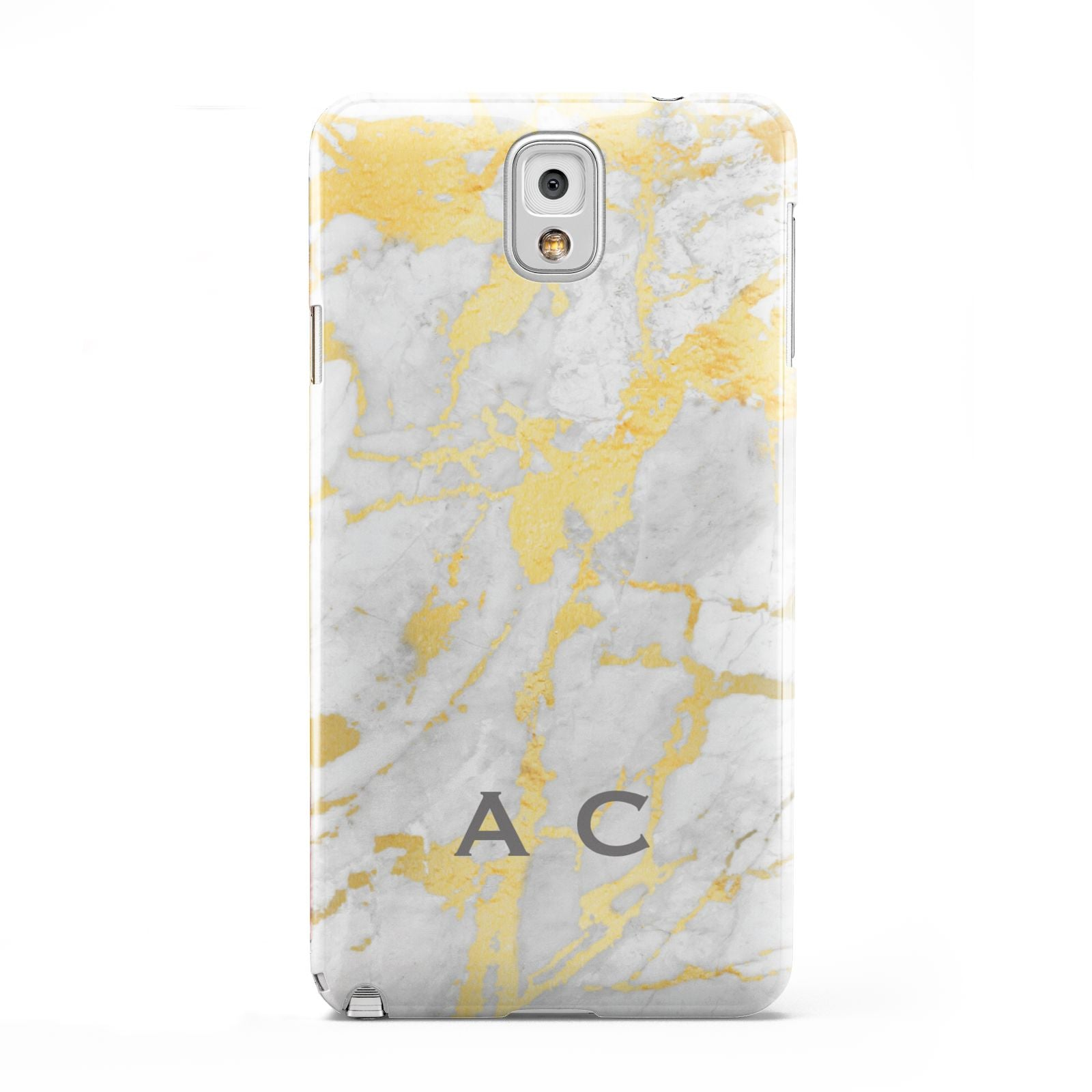 Gold Marble Initials Personalised Samsung Galaxy Note 3 Case