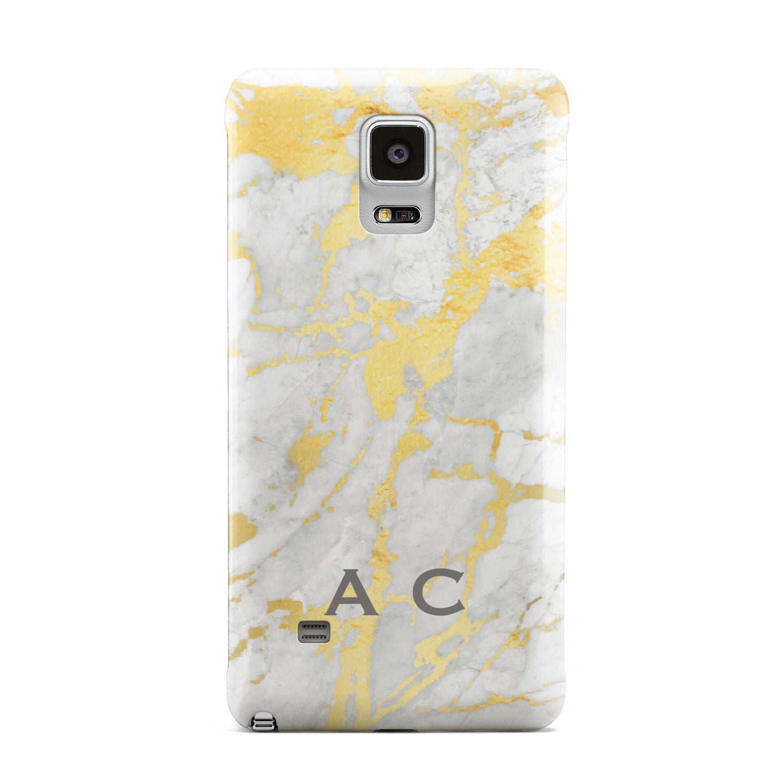 Gold Marble Initials Personalised Samsung Galaxy Note 4 Case