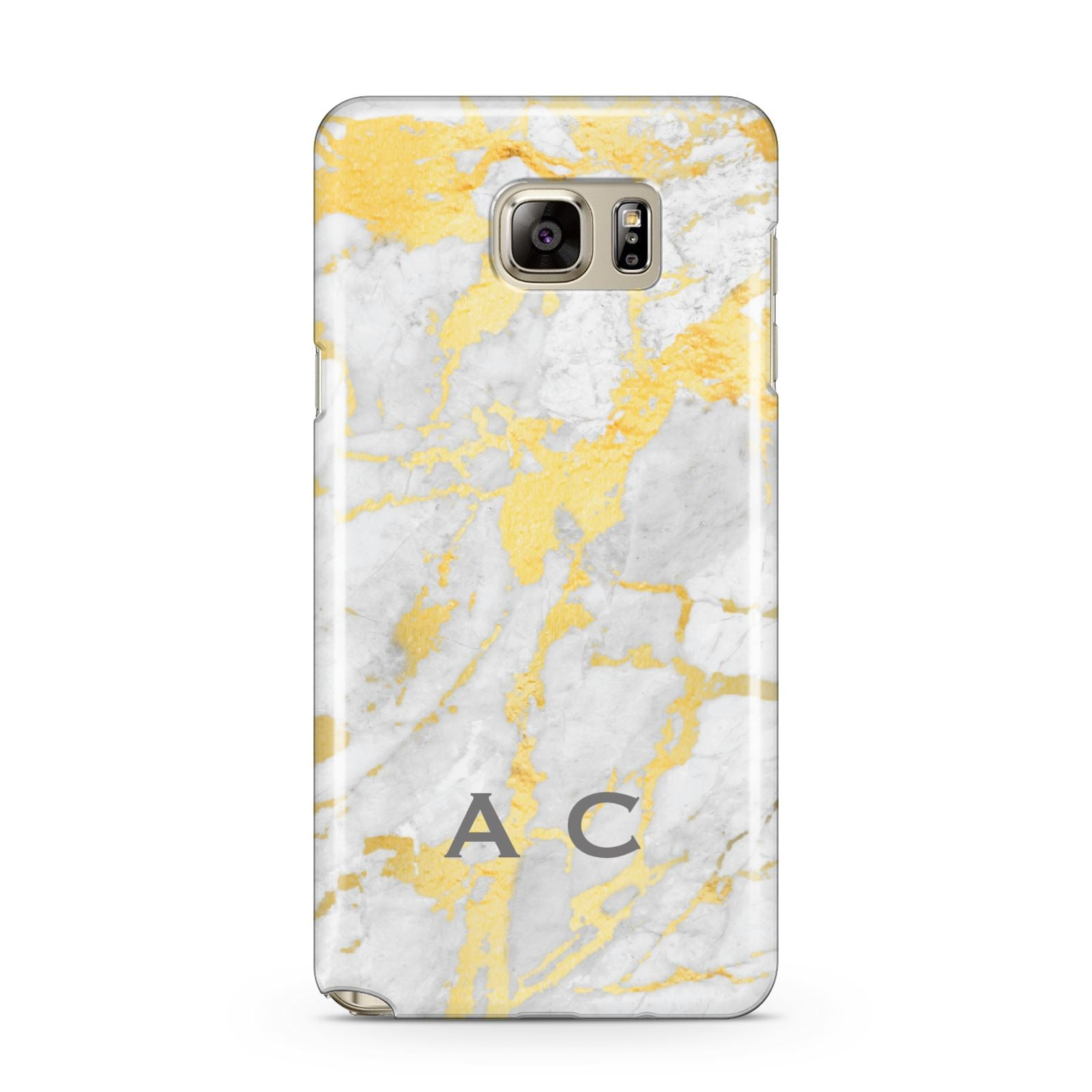 Gold Marble Initials Personalised Samsung Galaxy Note 5 Case
