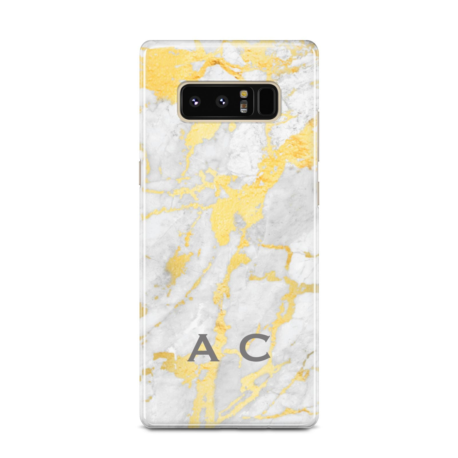 Gold Marble Initials Personalised Samsung Galaxy Note 8 Case