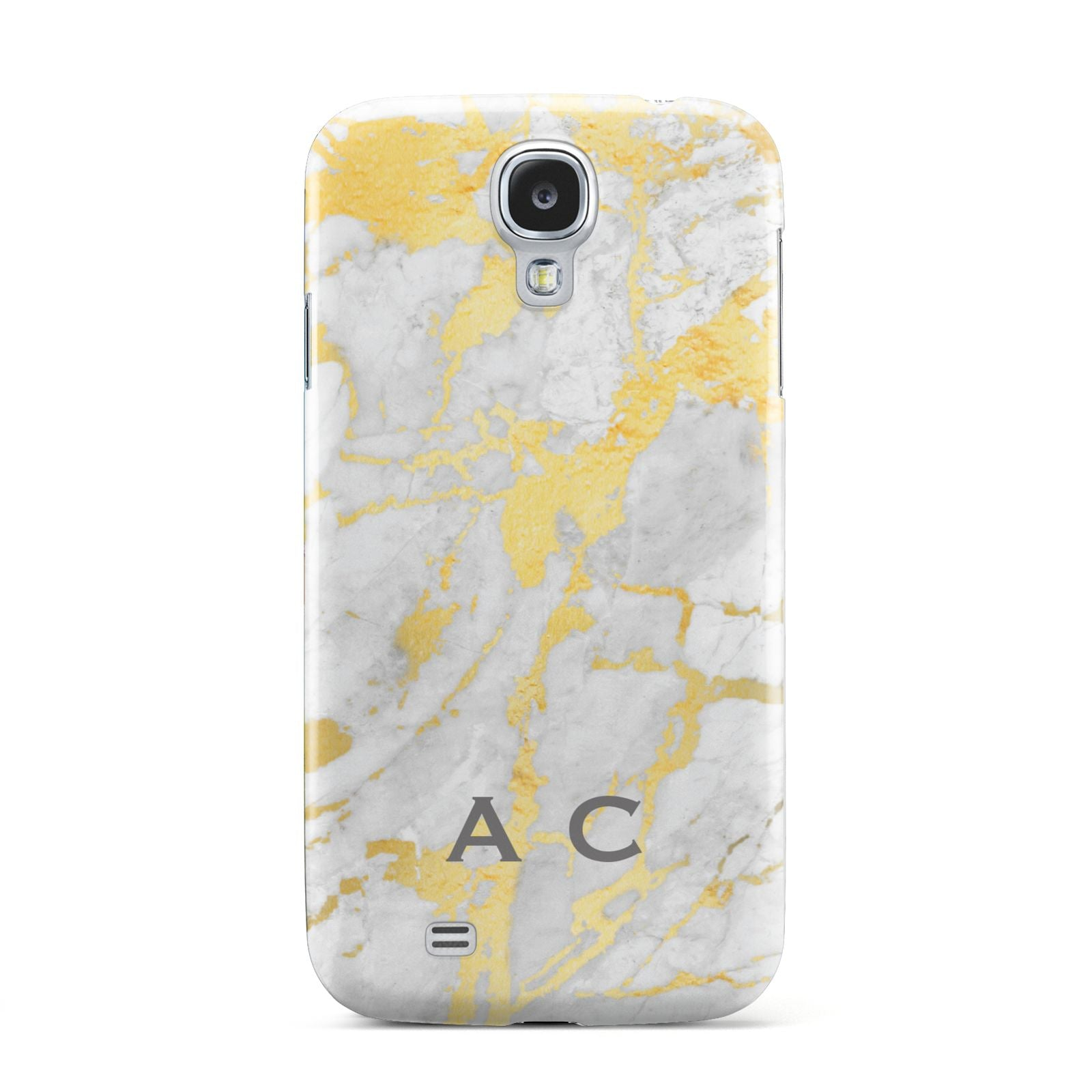 Gold Marble Initials Personalised Samsung Galaxy S4 Case