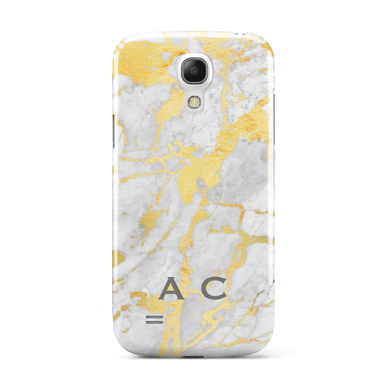 Gold Marble Initials Personalised Samsung Galaxy S4 Mini Case