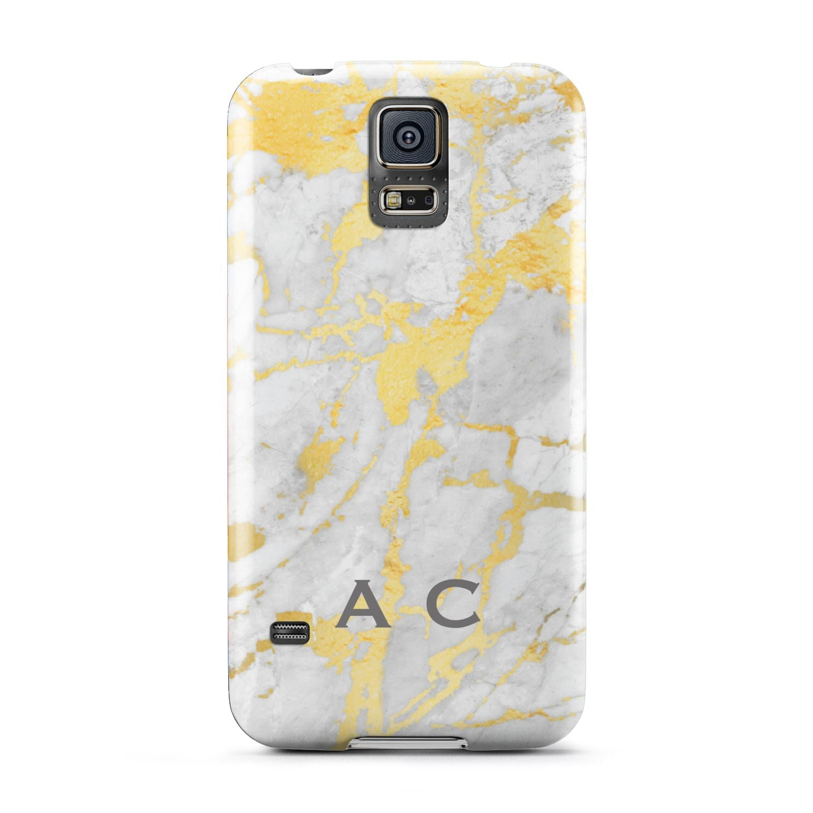 Gold Marble Initials Personalised Samsung Galaxy S5 Case